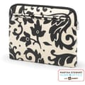 Martha Stewart Home Office with Avery Padded Tablet Sleeve, Black Damask, 11 1/4in. x 9in. x 1in.