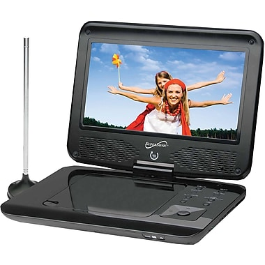 Supersonic® SC-259 Portable DVD/CD/MP3 Player With TV Tuner, USB and SD Card Slot, 9in. TFT