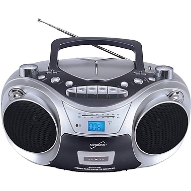 Supersonic® SC-709 Portable MP3/CD Player With Cassette Recorder AM/FM Radio and USB Input