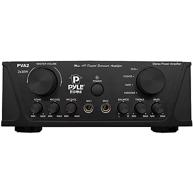 Pyle® PVA2 Hi-Fi Mini Stereo Amplifier, 60 W