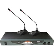 Pyle® PDWM2150 Professional Dual Table Top VHF Wireless Microphone System, 50 Hz - 16 kHz