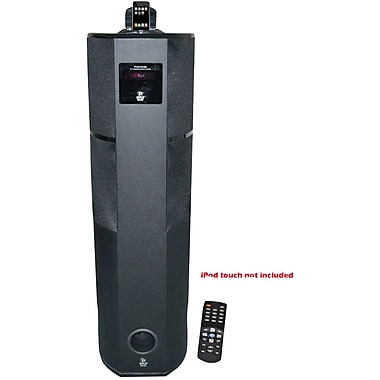 Pyle® PHST92IBK 2.1 Channel Digital Home Theater Tower With iPod and iPhone Docking Station, 600 W