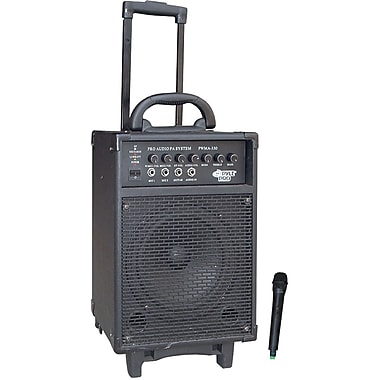Pyle® PWMA330 VHF Wireless Battery Powered PA System With Echo, 300 W