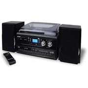 Jensen® JTA-980 3-Speed Stereo Turntable 2 CD System With Cassette and AM/FM Stereo Radio