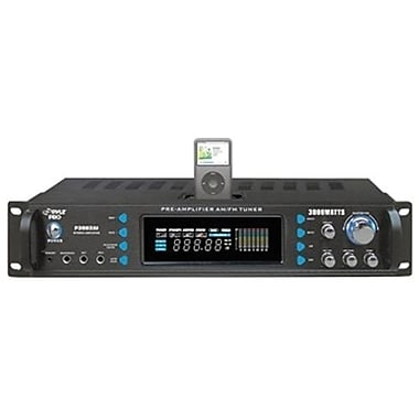 Pyle® P3002AI Hybrid Receiver and Pre-Amplifier With AM-FM Tuner/iPod Docking Station, 3000 W