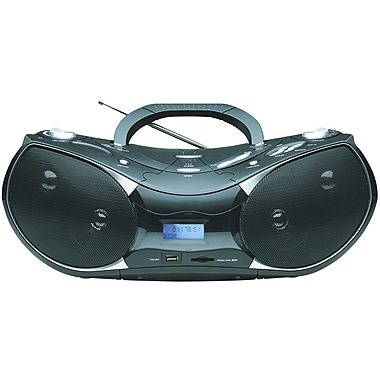 Naxa® NPB-256 Portable MP3/CD Player With Text Display, AM/FM, USB Input and SD/MMC Card Slot