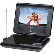Supersonic® SC-257 Portable DVD Player With Digital TV Tuner USB, SD Card Slot and Swivel Display