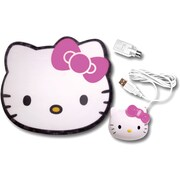Hello Kitty® KT4098 Optical Mouse With Mouse Pad, White