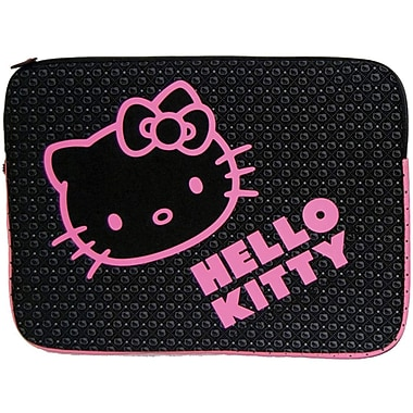 Hello Kitty® KT4315 Laptop Sleeve, Black/Pink