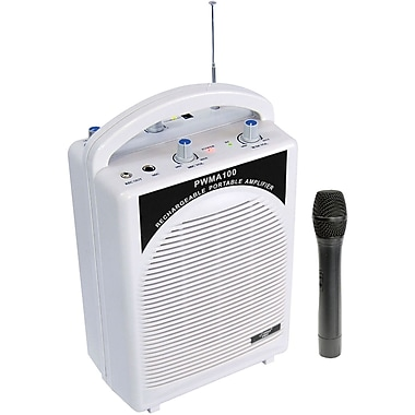 Pyle® PWMA100 Rechargeable Portable PA System With Wireless MIC, 80 W
