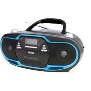 Naxa® NPB-257 Blue Portable MP3/CD Player, AM/FM Stereo Radio and USB Input