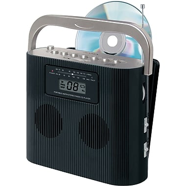 Jensen® CD-470BK Portable Stereo Compact Disc Player With AM/FM Radio