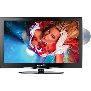 Supersonic® 1366 x 768 SC-1312 13.3in. Widescreen LED HD Television With Built-In DVD Player