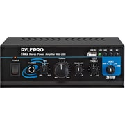 Pyle® PTAU23 Mini Stereo Power Amplifier With USB, AUX, CD and Mic Inputs, 80 W