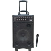 Pyle® PWMA1050 VHF Wireless Battery Powered PA System With Echo/iPod/MP3 Input Jack, 800 W
