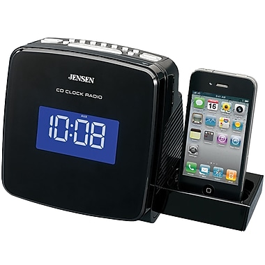 Jensen® JIMS-215i Docking Digital CD Clock Radio For iPod and iPhone