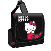 Hello Kitty® KT4339 Vertical Messenger Style Laptop Case, Black