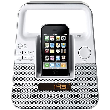 Memorex™ MI2601PWHT TagAlong Portable Boombox For iPod