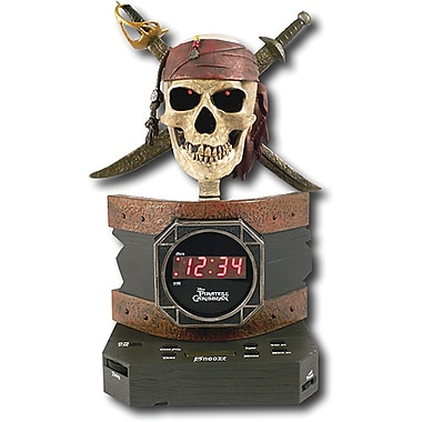 Disney PC300ACR Pirates Of The Caribbean Alarm Clock Radio, Multi color