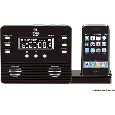 Pyle® PICL45 Enhanced Alarm Clock Speaker System With AM FM Radio and Remote Control