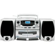 Supersonic® SC-2020U Portable MP3/CD Player With Cassette Recorder, AM/FM Radio and USB Input