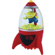 Disney TS390ACR Toy Story Aliens Alarm Clock Radio, Red