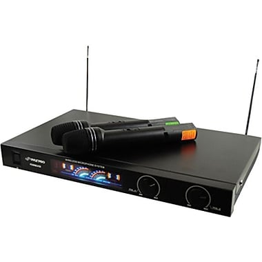Pyle® PDWM2450 Wireless VHF Microphone System With 2 Microphones, 85 Hz - 12 kHz