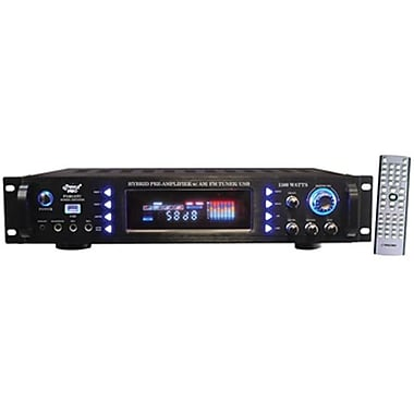 Pyle® P1501ATU Hybrid Pre Amplifier With AM/FM Tuner/ USB, 1500 W