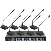 Pyle® PDWM8300 Professional Conference Desktop VHF Wireless Microphone System, 50 Hz - 16 kHz