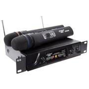 Pyle® PDWM2600 Dual UHF Wireless Microphone System, 60 Hz - 18 kHz