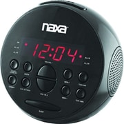 Naxa® NRC-172 PLL Digital Alarm Clock With AM/FM Radio and Snooze