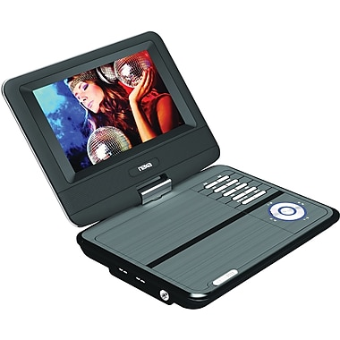 Naxa® NPD-703 Swivel Screen Portable DVD Player With USB/SD/MMC Inputs, 7in. TFT LCD