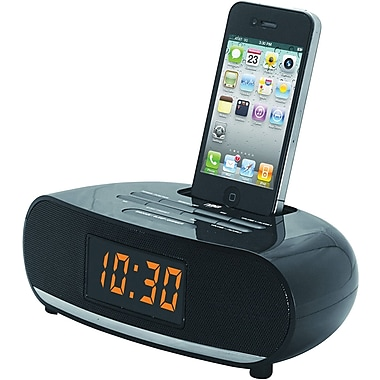 Naxa® NI-3107 PLL Digital Alarm Clock Radio With Dock For iPod and iPhone