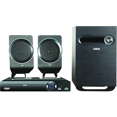 Naxa® ND-854 2.1 Channel DVD Home Theater System With Progressive Scan DVD Player and USB Input