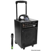 Pyle® PWMA930I VHF Wireless Portable PA System/Echo With iPod Dock, 600 W