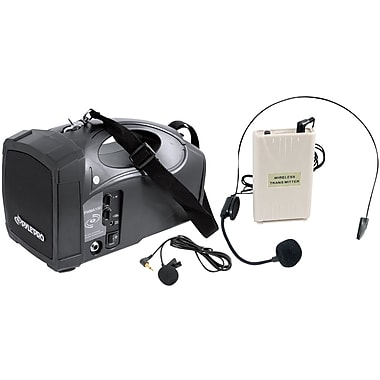 Pyle® PWMA150 Portable PA Wireless Speaker System Amplifier With Belt Pack Lavalier/Headset