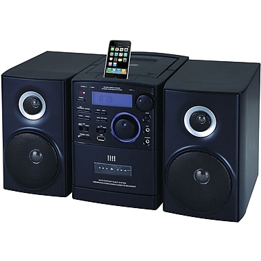 Supersonic® SC-805 MP3/CD Player With iPod Docking, USB/SD/AUX Inputs and AM/FM Radio