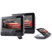 Supersonic® SC-198 Dual Screen DVD Player With USB/SD Inputs, 7 LCD