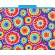Tie-Dye Decorative File Folders, Letter, 3 Tab