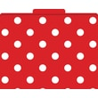 Red and White Dot Decorative File Folders, Letter, 3 Tab