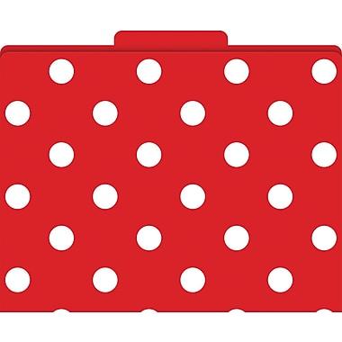 Barker Creek Red and White Polka Dot Decorative File Folders, Letter, 3 Tab, 12/pack (LL1312)