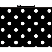 Black and White Dot Decorative File Folders, Letter, 3 Tab
