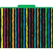 Neon Stripes Decorative File Folders, Letter, 3 Tab