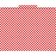 Red Check Decorative File Folders, Letter, 3 Tab
