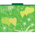 Go Green Decorative File Folders, Letter, 3 Tab