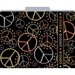Peace Decorative File Folders, Letter, 3 Tab