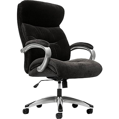 basyx by HON VL401 Executive High-Back Chair with Loop Arms, Black