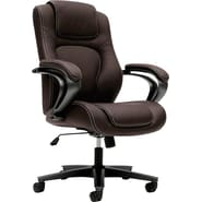 basyx by HON HVL402 High-Back Office Chair for Office or Computer Desk, Brown