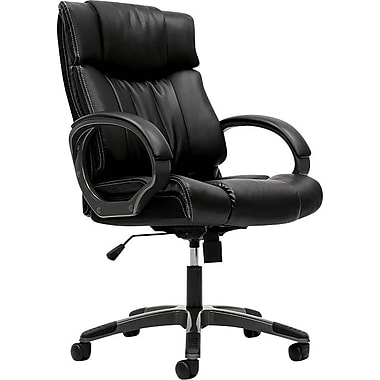 basyx by HON VL405 Managerial Mid-Back Chair with Loop, Black