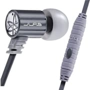 JBuds J4M Rugged Metal Earbuds with Microphone and Travel Case, Gun Metal